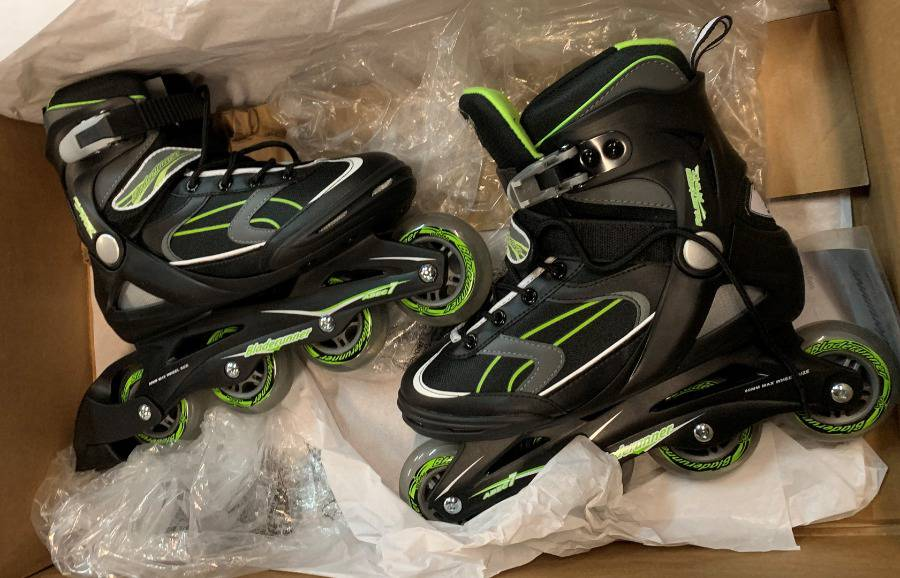 Black Bladerunner by Rollerblade Advantage Pro XT Mens Adult Fitness Inline Skate Inline Skates